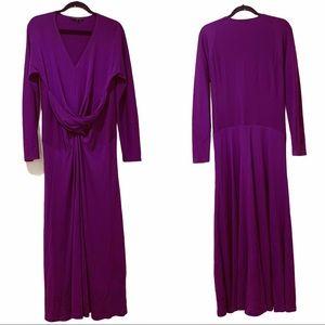 Donna Karan Plum/purple long sleeve dress size L